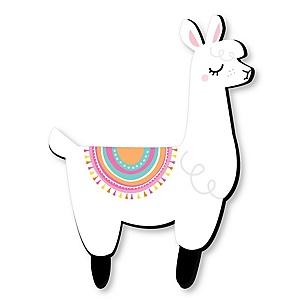 Whole Llama Fun - Nursery, Kids Room and Fiesta Home Decorations - Shaped Wall Art - 1 Piece