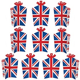 Cheerio, London - Table Decorations - British UK Party Fold and Flare Centerpieces - 10 Count