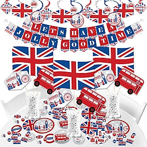 Cheerio, London - British UK Party Supplies - Banner Decoration Kit - Fundle Bundle