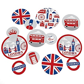 Cheerio, London - British UK Party Giant Circle Confetti - Party Decorations - Large Confetti 27 Count