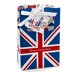 Cheerio, London - Personalized British UK Party Favor Boxes - Set of 12