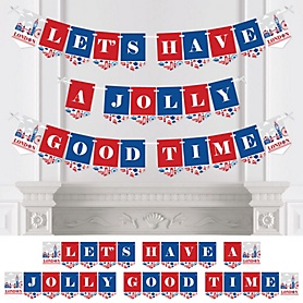 Cheerio, London - British UK Party Bunting Banner - Party Decorations - Let's Have a Jolly Good Time
