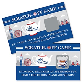 Cheerio, London - British UK Party Scratch Off Cards - 22 Cards