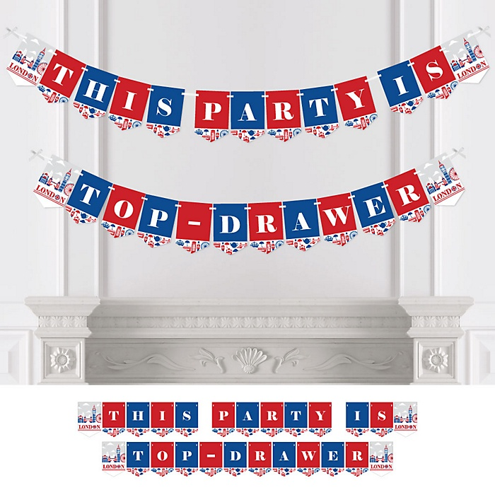 Cheerio, London - Personalized British UK Party Bunting Banner and Decorations