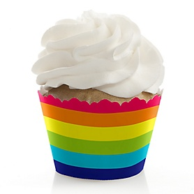 Love is Love - Gay Pride - LGBTQ Rainbow Party Decorations - Party Cupcake Wrappers - Set of 12