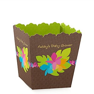Luau - Personalized Baby Shower Candy Boxes