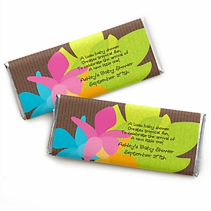 Luau - Personalized Baby Shower Candy Bar Wrapper Favors
