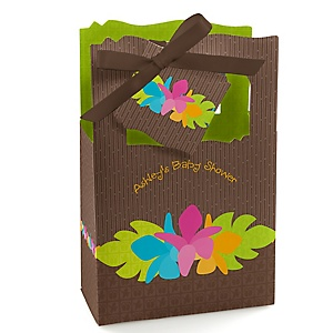 Luau - Personalized Baby Shower Favor Boxes