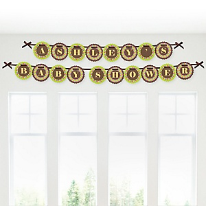 Luau - Personalized Baby Shower Garland Letter Banners