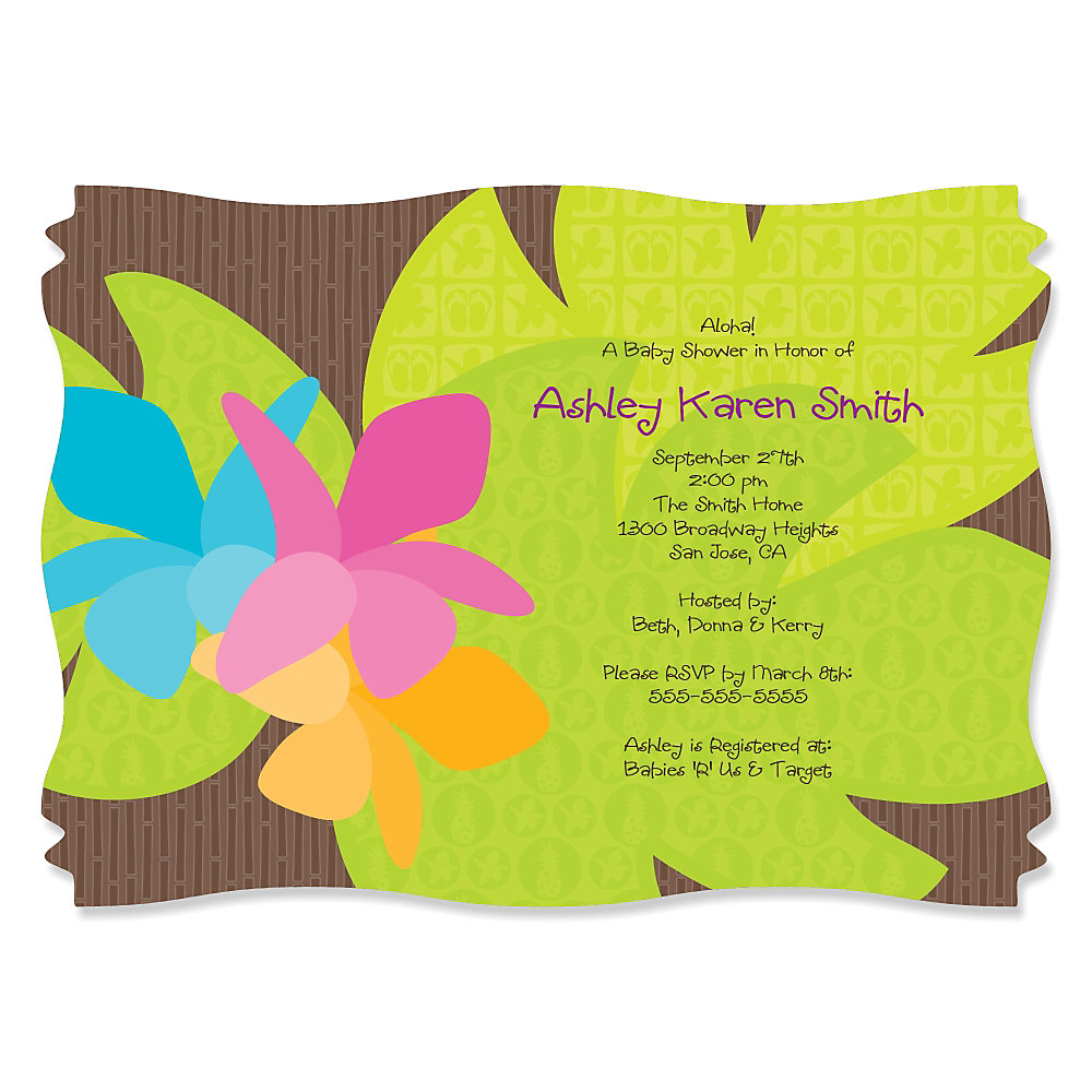 Luau - Personalized Baby Shower Invitations | BigDotOfHappiness.com