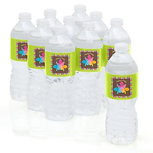 Luau - Personalized Baby Shower Water Bottle Sticker Labels - Set of 10