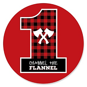 1st Birthday Lumberjack - Channel The Flannel - Buffalo Plaid First Birthday Party Theme