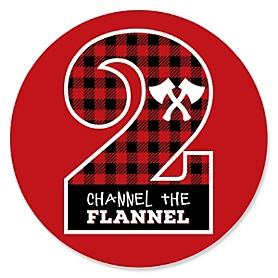 2nd Birthday Lumberjack - Channel The Flannel - Buffalo Plaid Second Birthday Party Theme