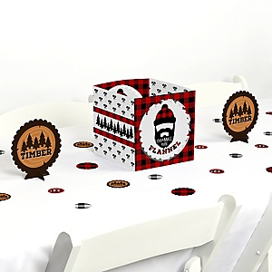 Lumberjack - Channel The Flannel - Buffalo Plaid Party Centerpiece and Table Decoration Kit