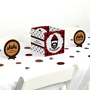 Lumberjack - Channel The Flannel - Buffalo Plaid Party Centerpiece & Table Decoration Kit