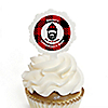 Lumberjack - Channel The Flannel - Cupcake Picks with Personalized Stickers - Buffalo Plaid Party Cupcake Toppers - 12 ct