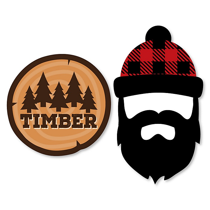 Lumberjack - Channel The Flannel - DIY Shaped Buffalo Plaid Party Cut-Outs - 24 ct