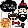 Lumberjack - Channel the Flannel - 20 Piece Buffalo Plaid Photo Booth Props Kit