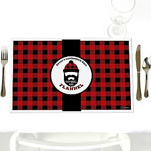 Lumberjack - Channel The Flannel - Personalized Buffalo Plaid Party Placemats