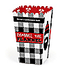 Lumberjack - Channel The Flannel - Personalized Buffalo Plaid Party Popcorn Favor Treat Boxes - Set of 12