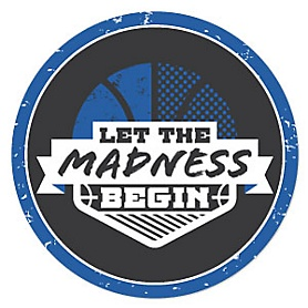 Blue Basketball - Let the Madness Begin - Basketball Party Theme