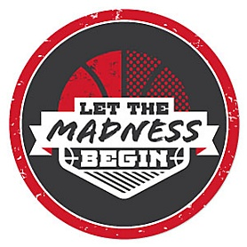 Red Basketball - Let the Madness Begin - Basketball Party Theme