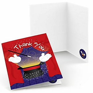 Magic - Birthday Party Thank You Cards - 8 ct