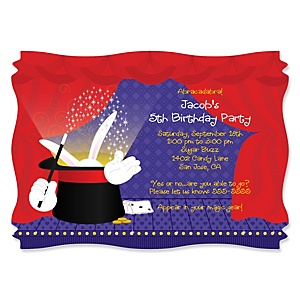 Magic - Personalized Birthday Party Invitations - Set of 12