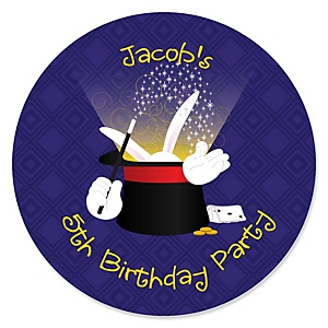 Magic - Personalized Birthday Party Sticker Labels - 24 ct
