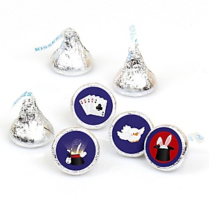Magic - Round Candy Labels Birthday Party Favors - Fits Hershey's Kisses - 108 ct