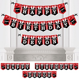 Ta-Da, Magic Show - Personalized Magical Birthday Party Bunting Banner and Decorations