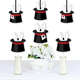 Ta-Da, Magic Show - Rabbit in a Magician's Hat Decorations DIY Magical Birthday Party Essentials - Set of 20