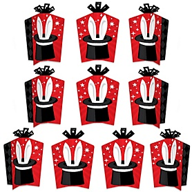 Ta-Da, Magic Show - Table Decorations - Magical Birthday Party Fold and Flare Centerpieces - 10 Count