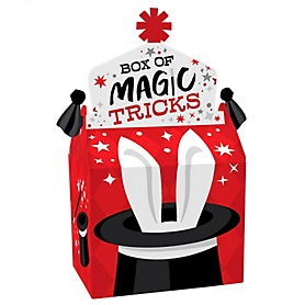 Ta-Da, Magic Show - Treat Box Party Favors - Magical Birthday Party Goodie Gable Boxes - Set of 12