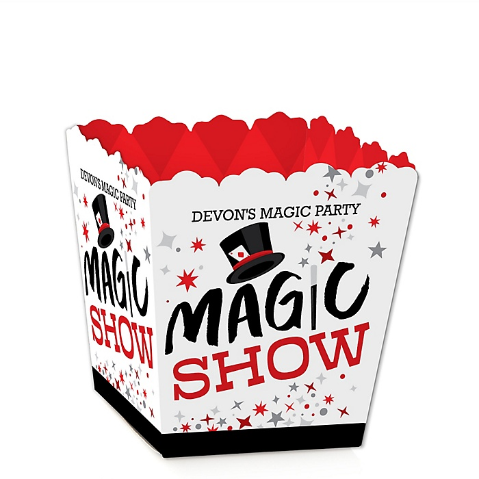 Ta-Da, Magic Show - Party Mini Favor Boxes - Magical Birthday Party Treat Candy Boxes - Set of 12