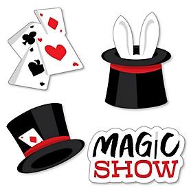 Ta-Da, Magic Show - DIY Shaped Magical Birthday Party Cut-Outs - 24 Count