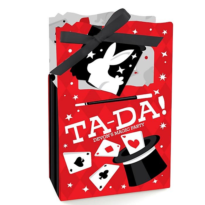 Ta-Da, Magic Show - Magical Birthday Party Favor Boxes - Set of 12