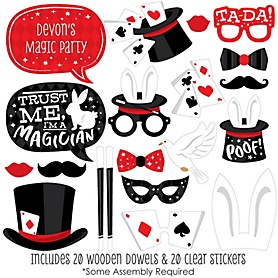 Ta-Da, Magic Show - 20 Piece Magical Birthday Party Photo Booth Props Kit