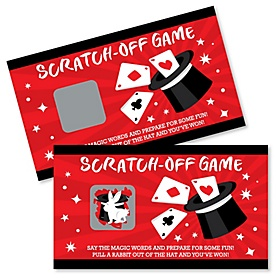 Ta-Da, Magic Show - Magical Birthday Party Game Scratch Off Cards - 22 Count