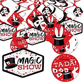Ta-Da, Magic Show - Magical Birthday Party Hanging Decor - Party Decoration Swirls - Set of 40