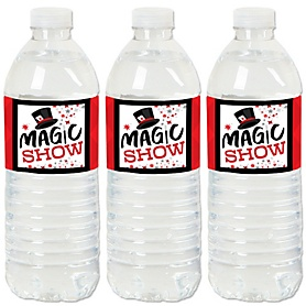 Ta-Da, Magic Show - Magical Birthday Party Water Bottle Sticker Labels - Set of 20