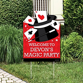 Ta-Da, Magic Show - Party Decorations - Magical Birthday Party Personalized Welcome Yard Sign