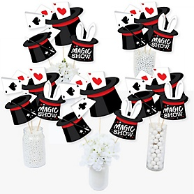 Ta-Da, Magic Show - Magical Birthday Party Centerpiece Sticks - Table Toppers - Set of 15
