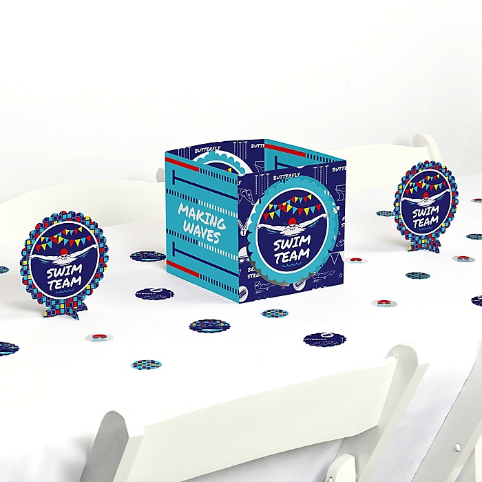 Making Waves - Swim Team - Swimming Party or Birthday Party Centerpiece and Table Decoration Kit