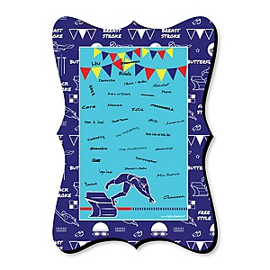 Making Waves - Swim Team - Unique Alternative Guest Book - Baby Shower or Birthday Party Signature Mat
