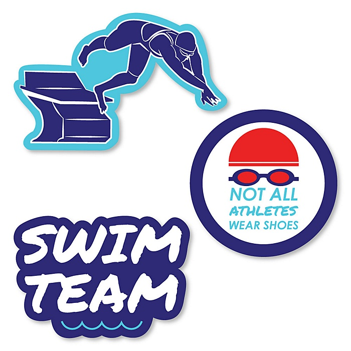 Making Waves - Swim Team - DIY Shaped Baby Shower or Birthday Party Cut-Outs - 24 ct