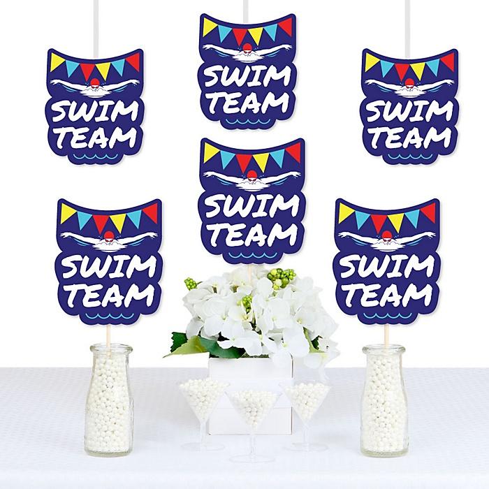 Making Waves - Swim Team - Decorations DIY Baby Shower or Birthday Party Essentials - Set of 20