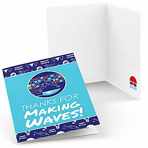 Making Waves - Swim Team - Baby Shower or Birthday Party Thank You Cards - 8 ct