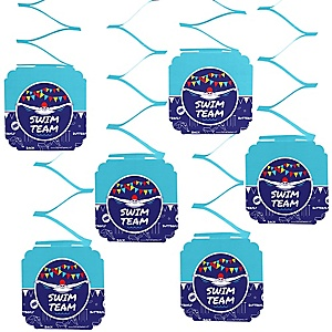Making Waves - Swim Team - Baby Shower or Birthday Party Hanging Decorations - 6 ct