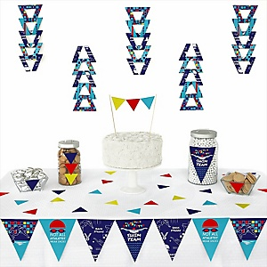 Making Waves - Swim Team -  Triangle Baby Shower or Birthday Party Decoration Kit - 72 Piece